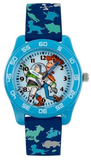 Disney Toy Story Quartz Blue Rubber Strap Time Teacher Boys Watch TYM9000