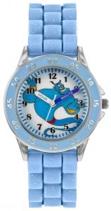 Disney Genie Quartz Blue Rubber Strap Time Teacher Boys Watch GNI9000