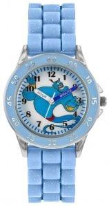 Disney Genie Quartz Blue Rubber Strap Time Teacher Boys Watch GNI9000