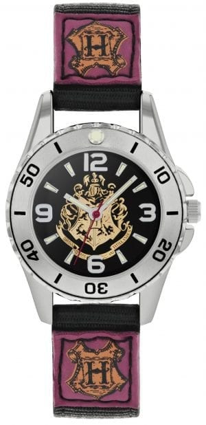 Disney Harry Potter Quartz Black Rip Strap Time Teacher Boys Watch HP5100