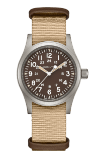 Hamilton Khaki Field Mechanical Brown NATO Strap Men's Watch H69439901
