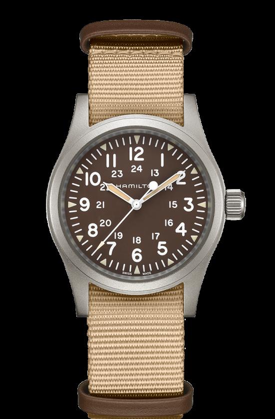 Hamilton Khaki Field Mechanical Brown NATO Strap Men's Watch H69439901