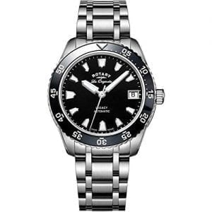 Rotary Legacy Automatic Silver Stainless Steel Black Dial Ladies Watch LB90168/04