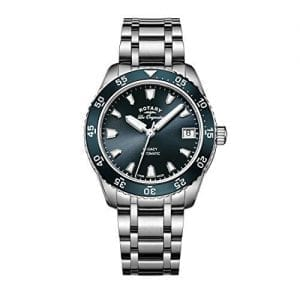 Rotary Legacy Ocean Automatic Silver Stainless Steel Blue Dial Ladies Watch LB90168/05