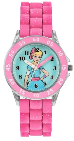 Disney Toy Story Quartz Pink Rubber Strap Time Teacher Girls Watch TYM9001