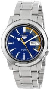 Seiko 5 Automatic Blue Speedometer Dial Men's Watch SNKK27K1