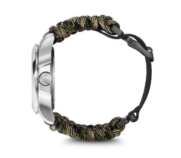 Victorinox I.N.O.X Autumn Paracord Silver Stainless Steel Quartz Men's Watch 241894