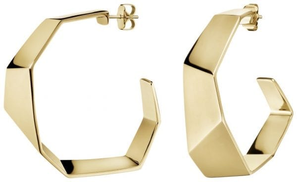 Calvin Klein Origami Gold PVD Stainless Steel Earrings KJATJE100100