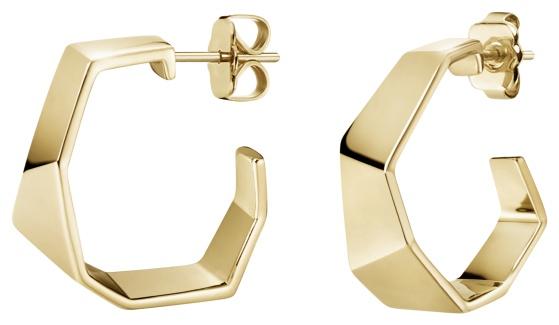 Calvin Klein Origami Gold PVD Stainless Steel Earrings KJATJE100200