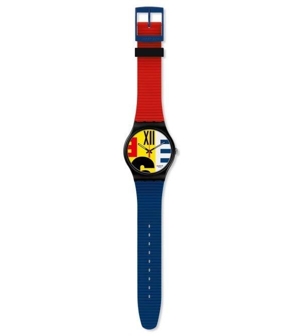 Swatch New Gent Revival Quartz Multicolour Silicone Strap Watch SUOB171