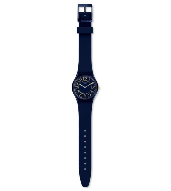 Swatch Gent Back In Time Quartz Blue Silicone Watch GN262