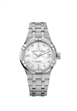 Maurice LaCroix Aikon Automatic Silver Stainless Steel White MOP Dial Ladies Watch AI6006-SS002-170-1