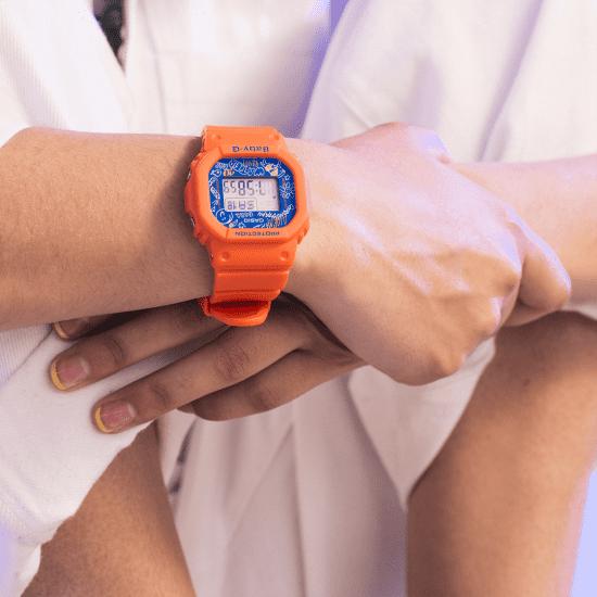 Casio Baby-G Graffiti Digital Quartz Retro Orange Resin Ladies Watch BGD-560SK-4ER