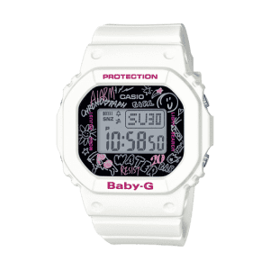 Casio Baby-G Graffiti Digital Quartz Retro Black Resin Ladies Watch BGD-560SK-7ER
