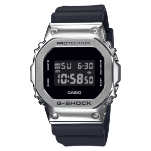 Casio G-Shock Metal Bezel Quartz Digital LCD Dial Black Resin Men's Watch GM-5600-1ER