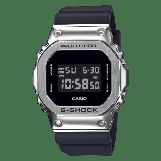 Casio G-Shock Metal Bezel Quartz Digital LCD Dial Black Resin Men's Watch GM-5600-1ER