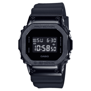 Casio G-Shock Metal Bezel Quartz Digital LCD Dial Black Resin Men's Watch GM-5600B-1ER