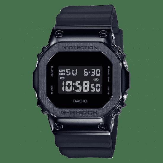 Casio G-Shock Metal Bezel Quartz Digital LCD Dial Black Resin Men's Watch GM-5600B-1ER