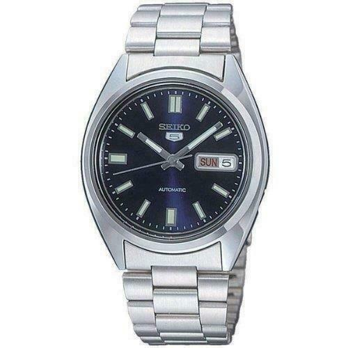 Seiko 5 Automatic Blue Dial Silver Stainless Steel Men's Watch SNXS77K1