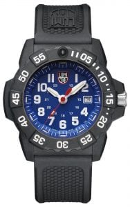 Luminox Navy SEAL 3500 Series Blue Dial Men's Watch XS.3503Luminox's Navy SEAL 3500 Series is the latest and most potent evolution of the company's hugely popular Navy SEAL timepiece collection. Favoured by diver's and available in a slightly chunkier and robust 45mm case size, the series features this Luminox Navy SEAL 3500 Series Blue Dial Men's Watch (XS.3503), a sleak and stealthy watch designed to thrive under the cover of darkness.SKUXS.3503FamilyNavy SEALMovementSwiss QuartzDial ColourBlueCase Size45mmCase MaterialCARBONOXCase BackScrewon casebackCrownDouble-security gasketGlassHardened mineral crystalBezelUni-directional rotatingStrap TypeSilicone strapStrap MaterialBlack signature PUBezel LLTOrangeLLT on Dial 12HOrangeLLT on Dial 1-1 1HGreenLLT on Hour HandGreenLLT on Minute HandOrangeLLT on Second HandGreenIlluminationNight Vision Tubes (25 Years)Guarantee2-Year Manufacturer'sWater Resistency200m
