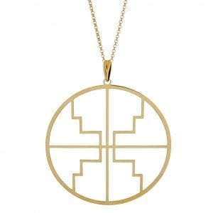 Kim Minchin Roxy Disc Gold NecklaceSleek and stylish, thisKim MinchinRoxy Disc Gold Necklace is a must have for any occasion. The pendant is approximately 6cm in size with the chain being 80cm in size. The necklace is made from925 Sterling Silver And 14k Gold Plate.Key Features:80cm Chain Length6cm Pendant925 Link ChainThe Brand: Kim MinchinKim Minchin Jewellery was founded back in 2014 by well known designer Kim Minchin Dunn. The philosphy of the brand centres around being able to wear any piece at any time. Having grown a loyal following from influencers and celebrities, this jewellery is a must have.