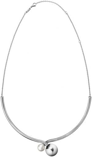 Calvin Klein Bubbly Silver Stainless Steel Choker Necklace KJ9RMJ040300