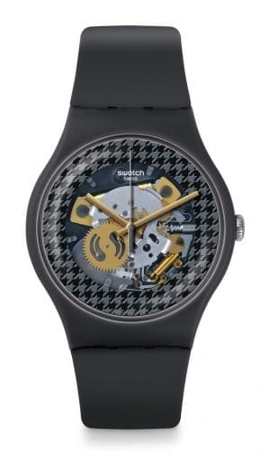 """The Watch: Swatch Greybolino Openwork 41mm Case Dial Matte Grey Dial Mens WatchThanks to its openwork dial, this Swatch Greybolino Openwork Dial Matte Grey Unisex Watch (SUOM109) is an intruguing timepiece propostion, with this careful exposition of the multi-coloured quartz movement being expertly complimented by a sleek matte grey case and strap.Key Features:Swiss-Made Quartz MovementOpenwork DialPlastic CaseSilicone StrapWater Resistant to 30mThe Brand: SwatchSwatch watches are globally-renowned for their trademark combination of quality Swiss watchmaking, pioneering use of plastic cases and straps, and eye-catching designs. There is a Swatch watch to suit every age, taste and lifestyle, with this variety and sense of difference ensuring that Swatch watches remain some of the most popular and sought after currently manufactured.Who We AreWatchNation is proud to be an authorized, established and respected supplier of Swatch watches. We stock a broad and exciting range of these superb timepieces both online and in store. Visiting us in store, located at 15-17 Charles Street, Hoole, Chester, CH2 3AZ, gives you the opportunity to take a first-hand look at our fantastic range of high-quality timepieces, with our friendly team of staff always on hand to use their decades of experience to offer helpful advice, useful information and expert guidance. If you can't pay a visit to our store, then our online delivery service guarantees that your latest timepiece will go from checkout to your wrist in a fast and reliable manner. These services are all a product of the motto on which WatchNation was founded and will forever operate – """"Time for the People."""""""