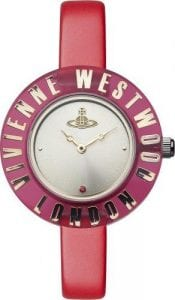 Vivienne Westwood Clarity Bright Ladies' Watch VV032RDDefined by its bold styling and striking appearance, this Vivienne Westwood Clarity Bright Ladies' Watch (VV032RD) also features a precise and reliable quartz movement. This substance is matched by style thanks to the Vivienne Westwood logo embossed on the case and the sleek leather strap. Key Features:Quartz movementRed leather strapVivienne Westwood logo case The Brand: Vivienne WestwoodPunk pioneer Vivienne Westwood has been making the fashion world sit up and take notice for decades. This attitude of difference and non-compliance was translated to the world of wristwear in 1993 following the introduction of the revolutionary Orb watch. Flourishing with innovation and devotion, Vivienne Westwood timepieces were unlike anything that had ever been seen before, featuring subjects such as nautical pirates and classic effervescent works of art and constructed from a diverse and bold range of materials. No longer was a watch simply a timekeeping tool, it was now a bona fide fashion accessory. Fast-forward to the present day and this ethos is still at the heart of every Vivienne Westwood timepiece, with the present range of offerings taking inspiration from every phase in Vivienne's storied design history.