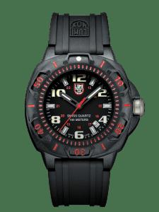 Luminox Sentry 0200 Black CARBONOX Case Black Rubber Strap And Men's Watch XL.0215.SL 43mm
