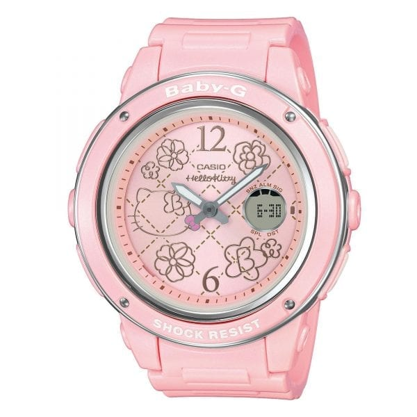 Casio Baby-G Hello Kitty Collaboration Quartz Pink Resin Ladies Watch BGA-150KT-4BER