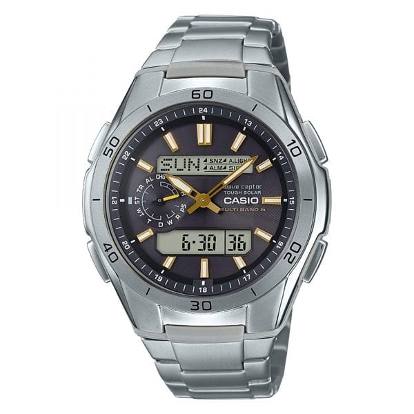 Casio Wave Ceptor Radio Controlled Solar Black Dial Titanium Men's Watch WVA-M650TD-1A2ER