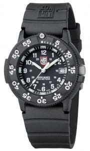 Luminox Original Navy SEAL 3000 Series Black Rubber Strap and CARBONOX Case Mens Watch XS.3001.F 43mm