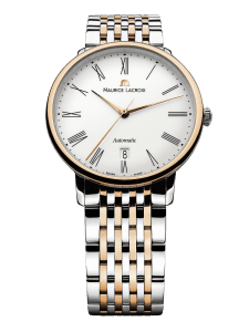 Maurice LaCroix Les Classiques Automatic White Dial Two Tone 18ct Gold Silver Steel Bracelet Watch LC6067-PS103-110-1
