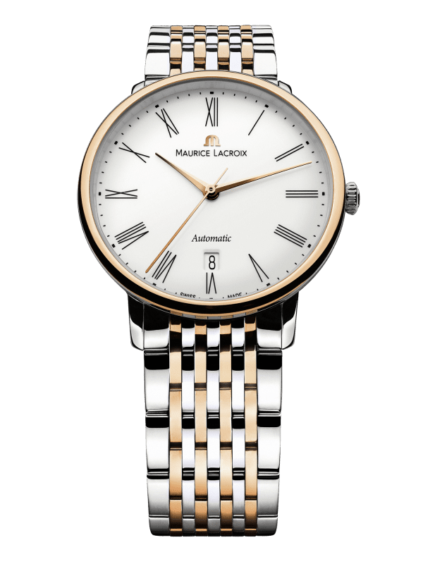 Maurice LaCroix Les Classiques Automatic White Dial Two Tone 18ct Gold Silver Steel Bracelet Watch LC6067-PS103-110-1