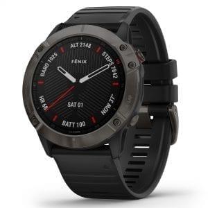 Garmin Fenix 6X Pro Black Dial Black Silicone Strap Men's Smartwatch 010-02157-11