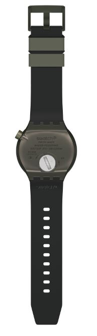Swatch Big Bold BBBubbles Quartz Grey Black Silicone Mens Watch SO27M100 47mm