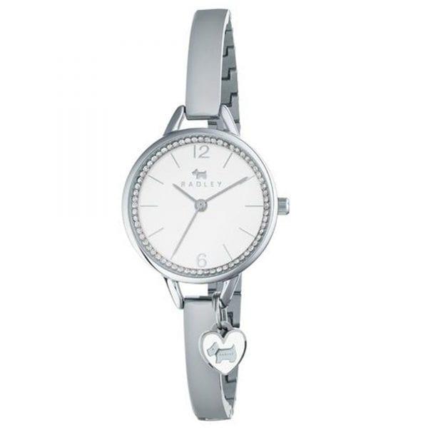 Radley Love Lane Quartz White Dial Silver Stainless Steel Ladies Watch RY4267