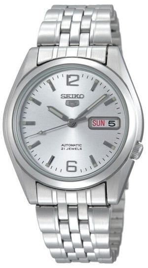 Seiko 5 Automatic Silver Stainless Steel Men's Watch