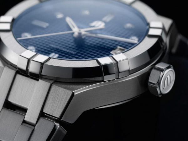 Maurice LaCroix Aikon Automatic Silver Stainless Steel Blue Dial Watch AI6006-SS002-450-1