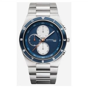 Bering Solar Silver Stainless Steel Case Silver Stainless Steel Strap Mens Watches 34440-708 41mm