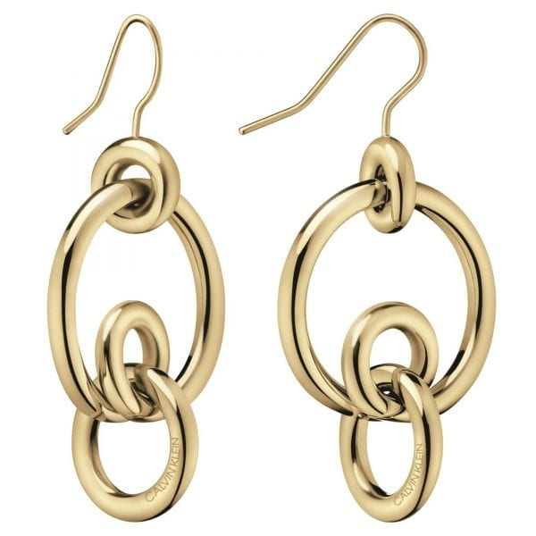 Calvin Klein Clink Gold PVD Stainless Steel Earrings KJ9PJE100200
