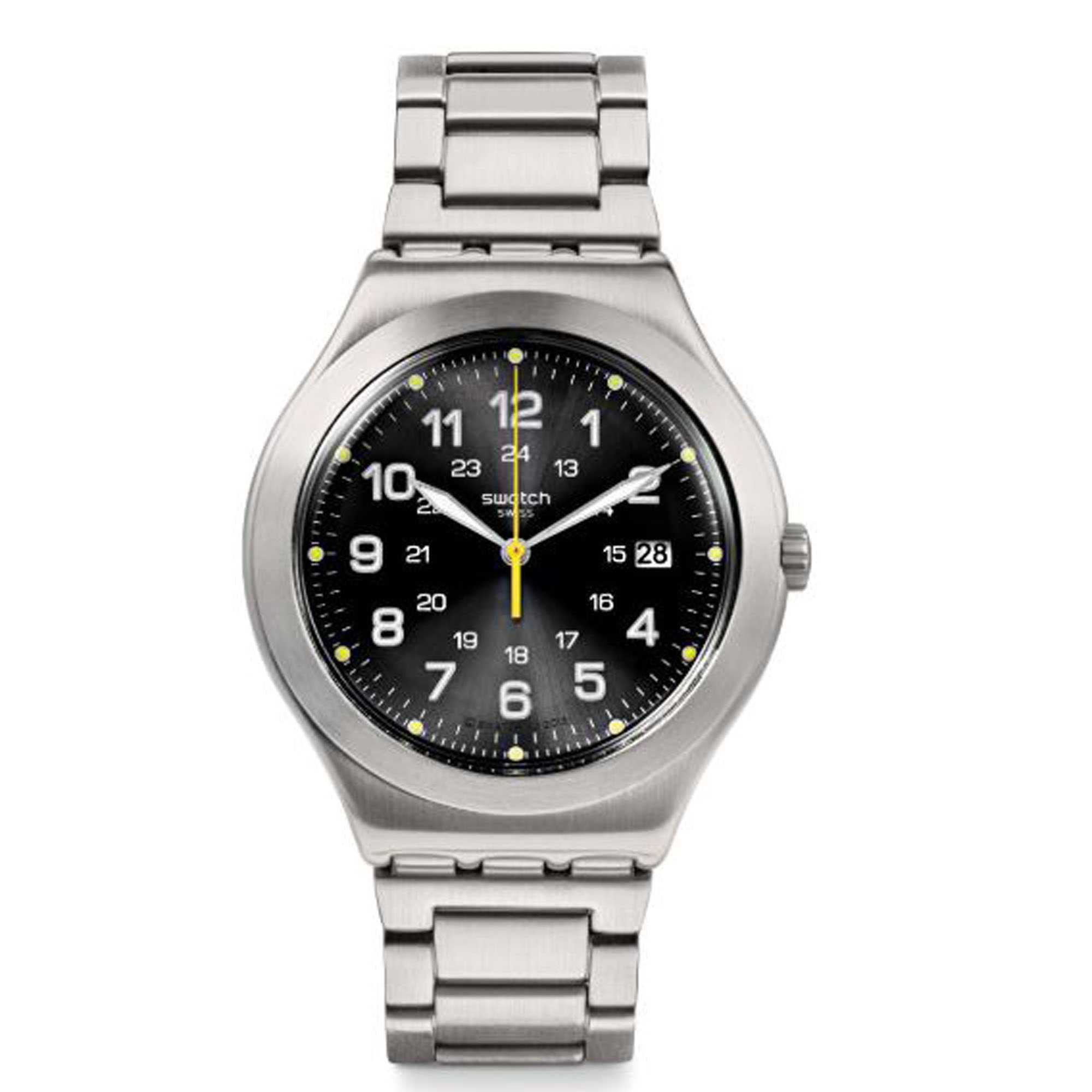 Swatch Happy Joe Lime Silver Stainless Steel Men's Watch YWS439G