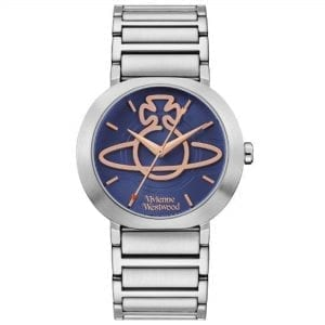 Vivienne Westwood Clerkenwell Quartz Blue Dial Silver Stainless Steel Ladies Watch VV222BLSL