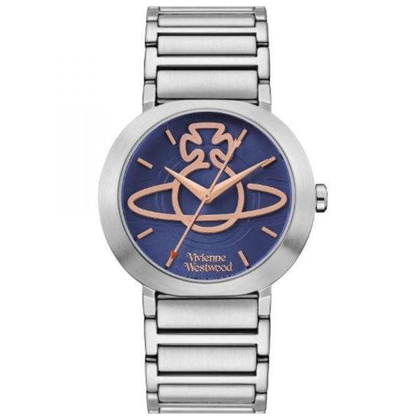 Vivienne Westwood Clerkenwell Quartz Blue Dial Silver Stainless Steel Ladies Watch VV222BLSL