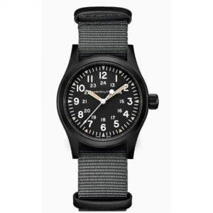 Hamilton Khaki Field Mechanical Black Dial NATO Strap Men's Watch H69409930