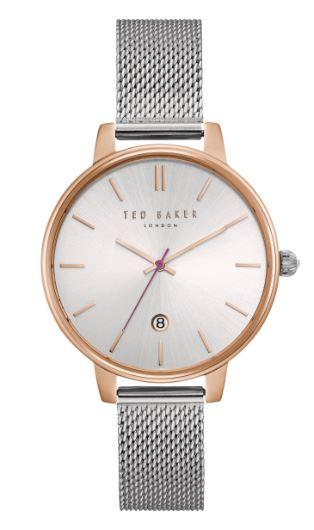 Ted Baker Kate Quartz Silver Dial Milanese Stainless Steel Bracelet Ladies Watch te15162011
