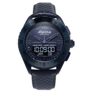 Alpina Limited Edition AlpinerX Space Quartz Blue Dial Leather Strap Men's Watch AL-283SEN5NAQ6