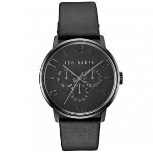 Ted Baker James Quartz Black Dial Leather Strap Chronograph Men's Watch TE10030763