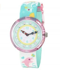 Flik Flak Splashy Dolphins Kids' Girls Watch FBNP035