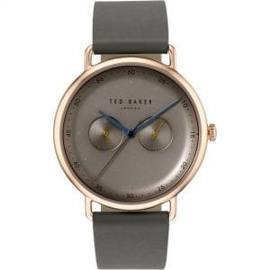 Ted Baker George Quartz Brown Dial Grey Leather Strap Men's Watch TE50520002